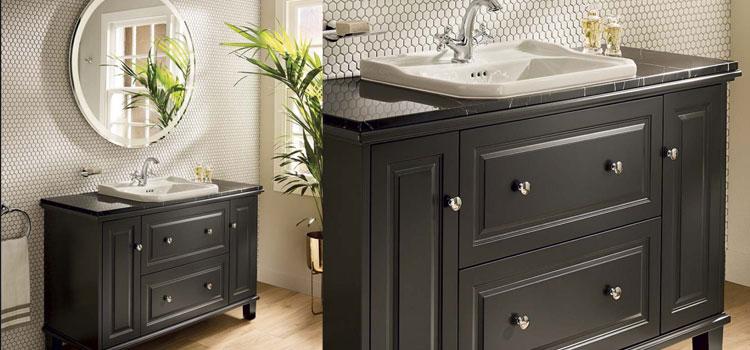 Meuble sous vasque bois de style classique