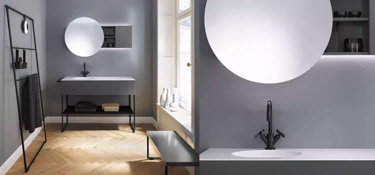 Salle de bains design lumineuse