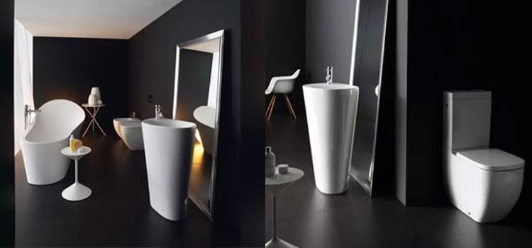 Salle de bains moderne noir et blanc