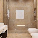 Le travertin s'installe dans la salle de bains