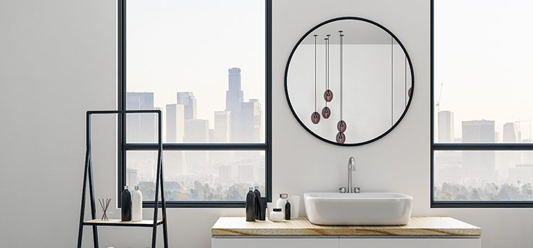 Miroir rond moderne