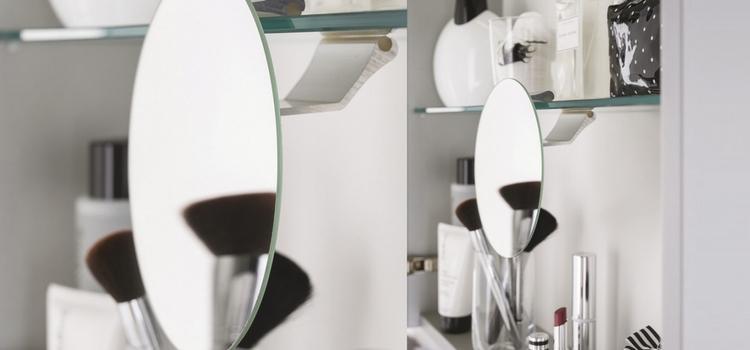 Armoire de toilettes Delpha avec miroir grossissant