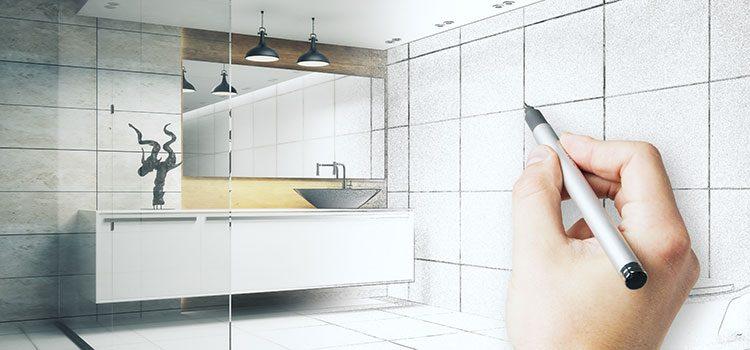 Dessin de salle de bains