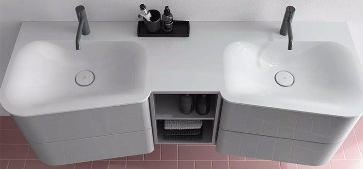 Double vasque asymétrique Badu de Burgbad