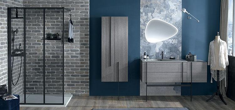 Salle de douche à déco industrielle