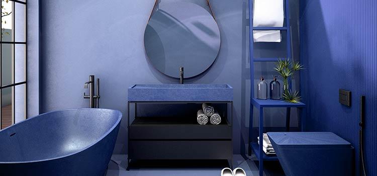Salle de bains bleu classic