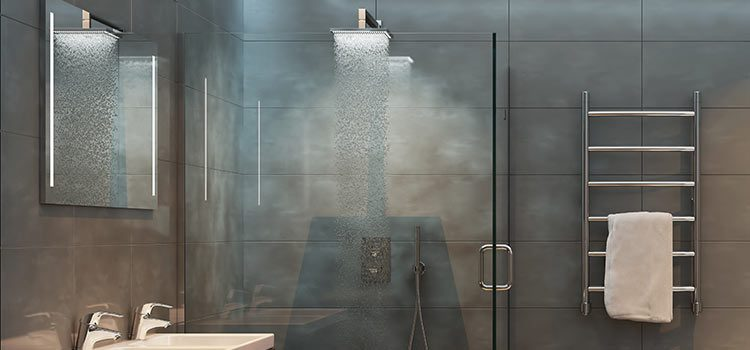 Visuel d'ambiance ciel de pluie dans un espace douche