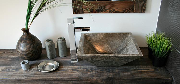 plan de robinet vasque