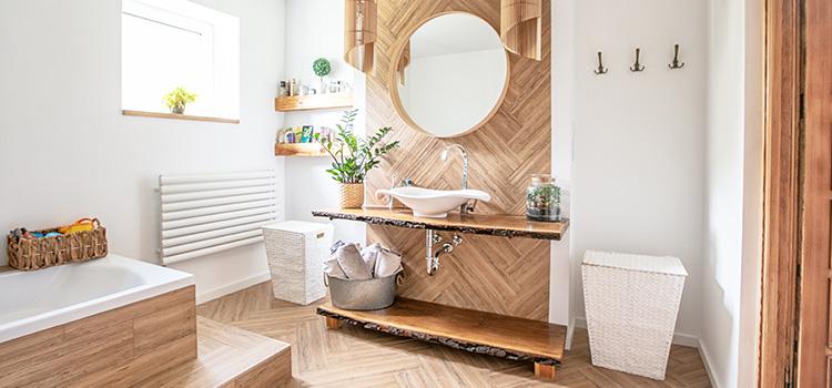 salle de bains style bois