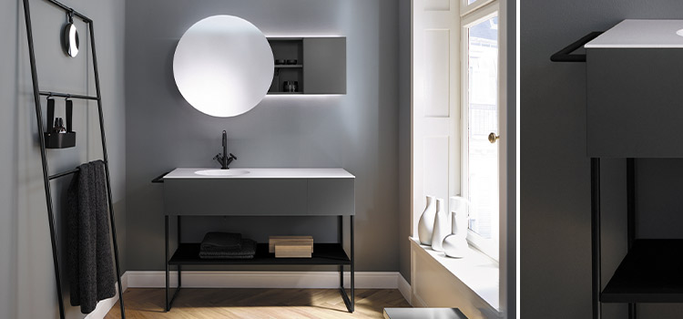 petite meuble de salle de bains style scandinave
