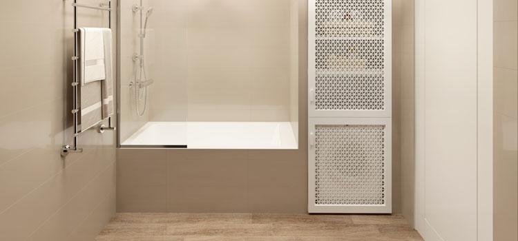 salle de bains dissimulée dans un placard