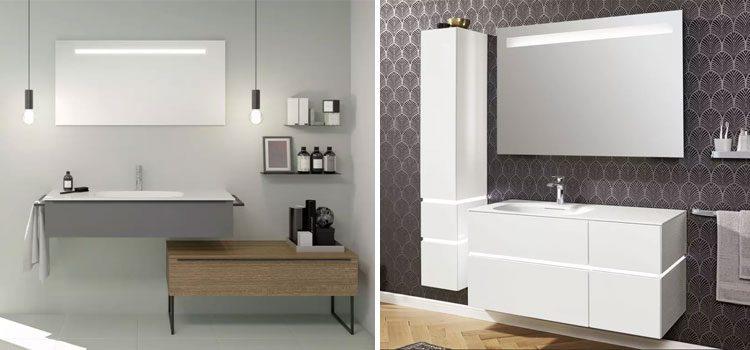 2 collections de meubles de salle de bains