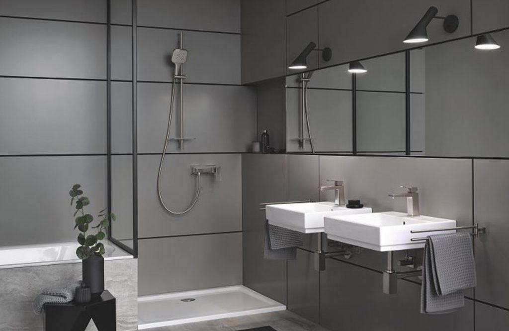 salle de bain et douche italienne grohe Eurocube