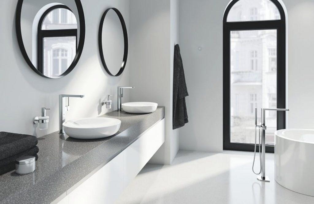 salle de bains avec double vasques Grohe Plus