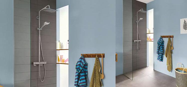 Espace douche italienne avec robinetterie Hansgrohe
