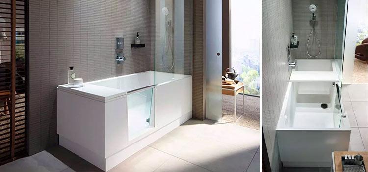 salle de bains avec ensemble baignoire douche