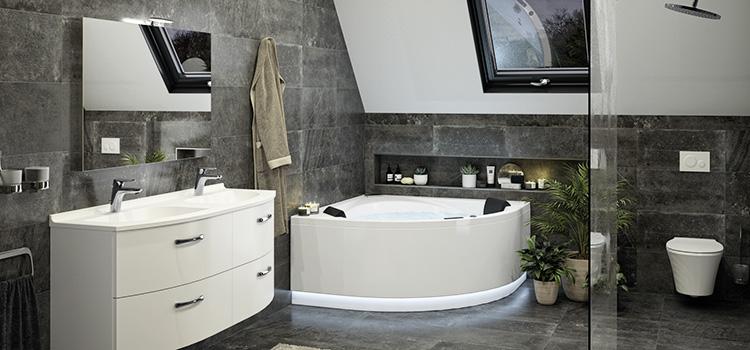 vue d'ensemble sur une salle de bains