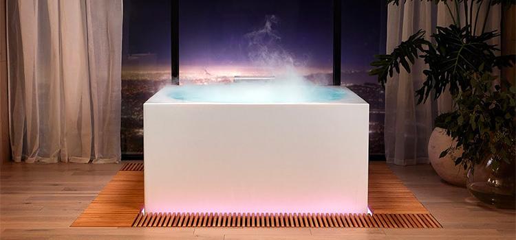 baignoire de salle de bains futuriste