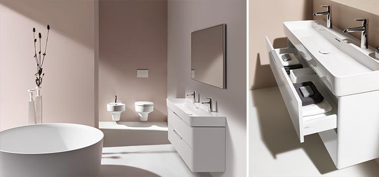 salle de bains avec baignoire îlot