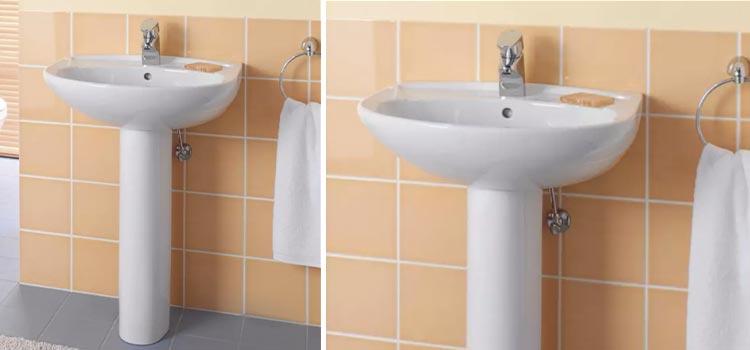 lavabo sur colonne de la marque Villeroy & Boch