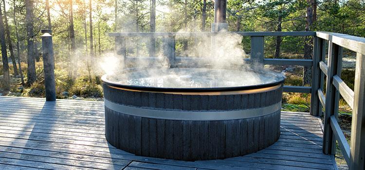 bain nordique en extérieur