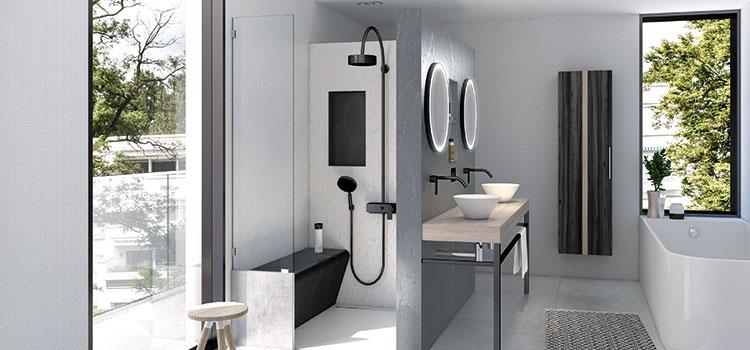 cloison de salle de bains